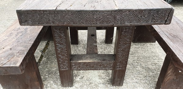 Wooden Table and Bench Sets