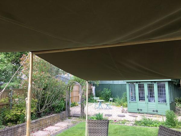 Garden marquee shelter