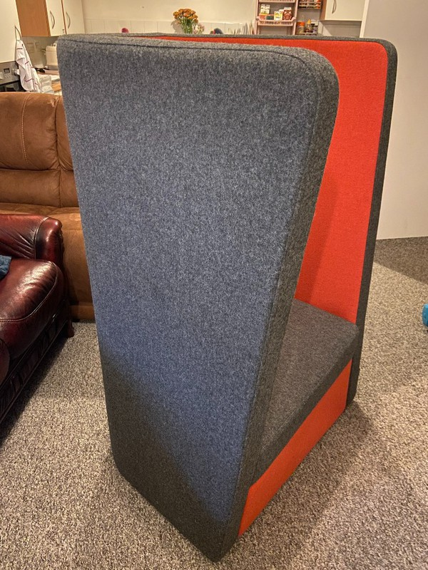 Orange and grey Naughton Busby chair