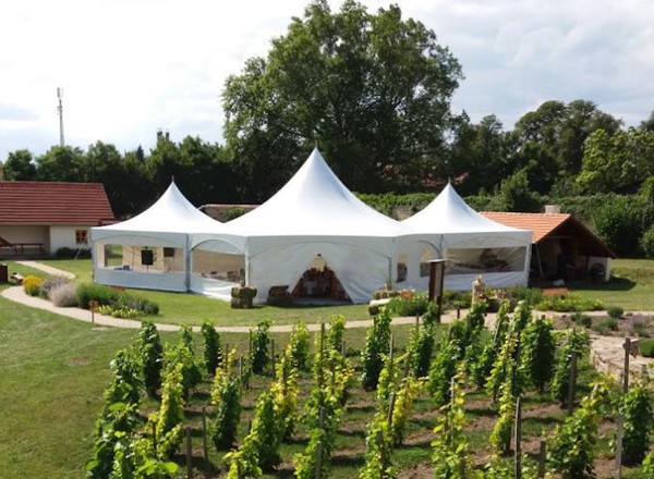 12m Hex Marquee with Panoramic Walls