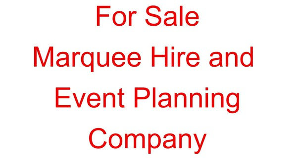 Marquee and event company for sale