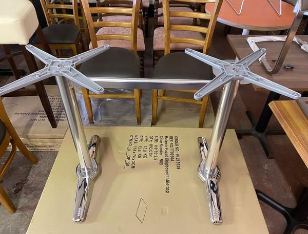 Double Chrome Pedestals  for sale