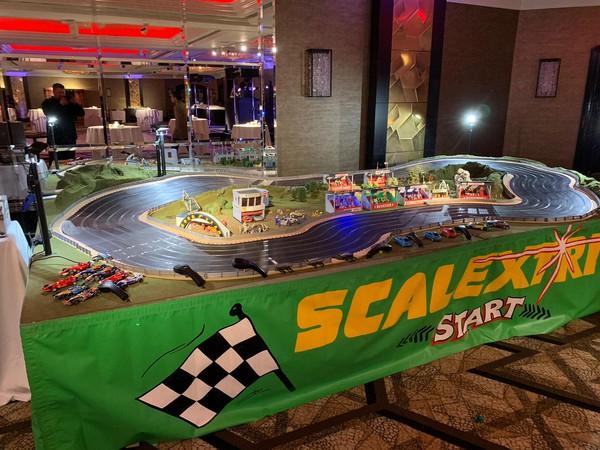 Giant Scalextrics set for sale
