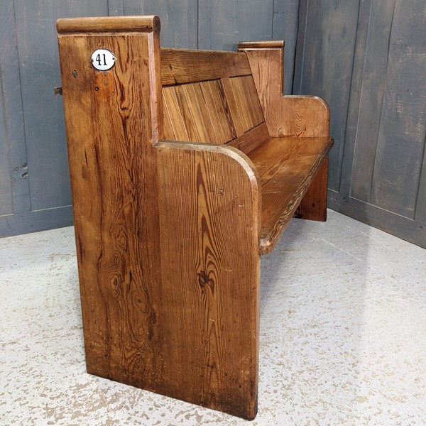 Pine church pew for sale