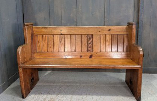 Reclaimed pit pine church pew