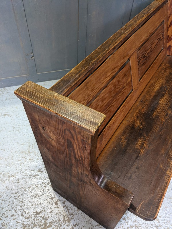 antique church benches