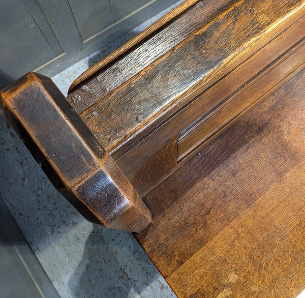 Church pew with patina