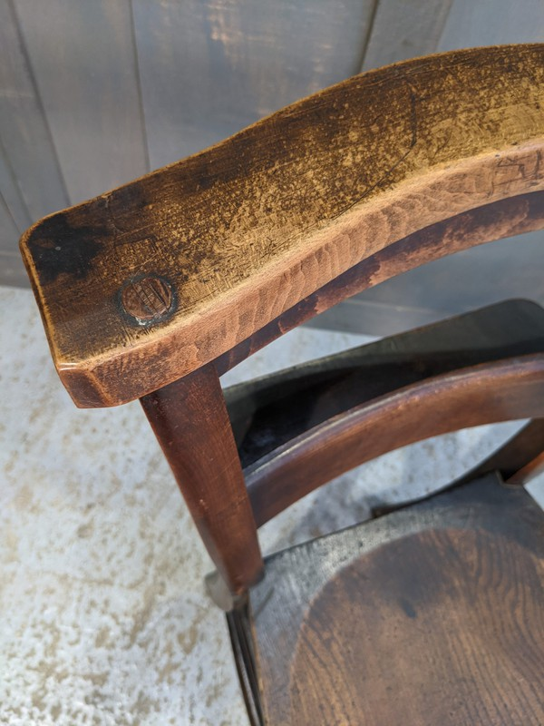 Antique Church chair with patina