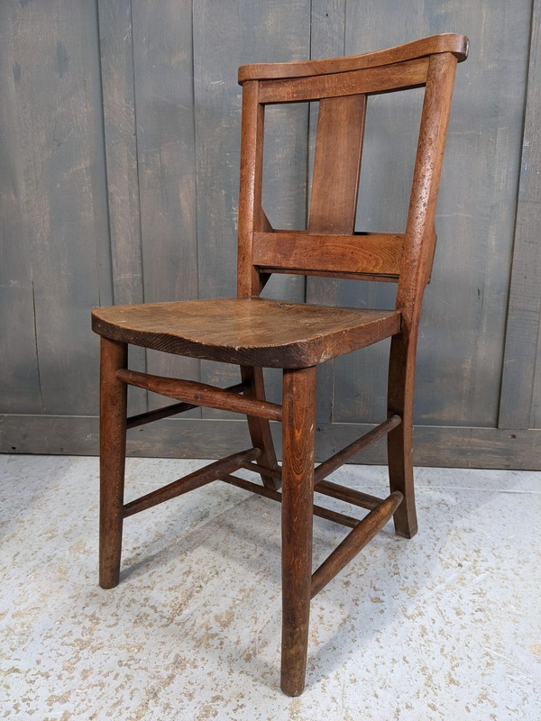 Reclaimed chapel chairs
