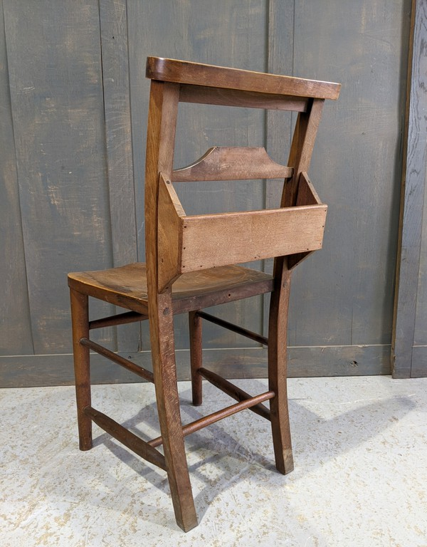 Church chair with bibel shelf