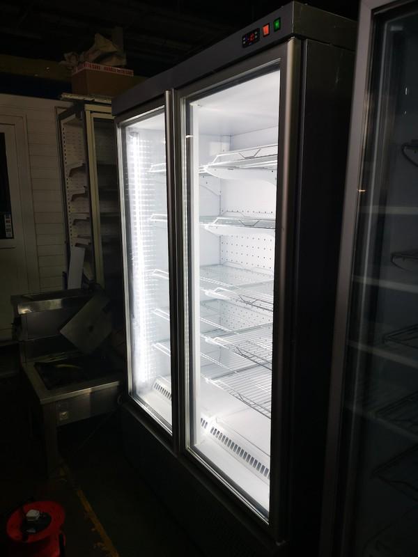 Isa Blizzard Double Door Display Freezer for sale