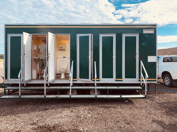 12 Bay Social Distancing Toilet