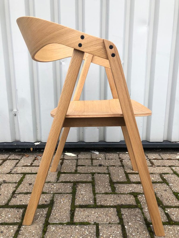 Solid Oak Restaurant Dining Chairs