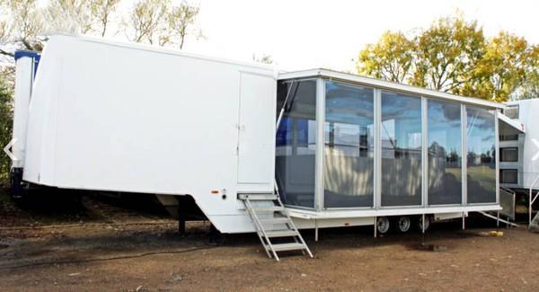 Step frame exhibition trailer for sale