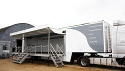 Trailer Stage with roof for sale