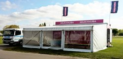 Exhibition truck / trailer with awning