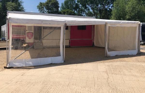 Large framed Awning - Exhibition trailer
