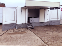 6m Exhibition trailer with canopy