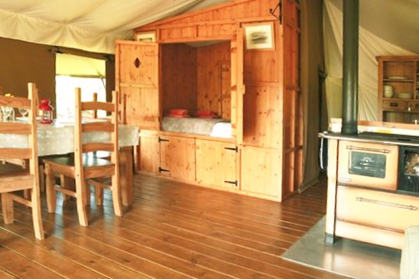Cupboard bed in Safari Tent