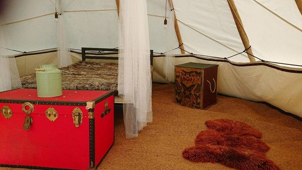Tipi for sale with bed and furniture