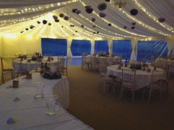 Framed marquee with panoramic windows