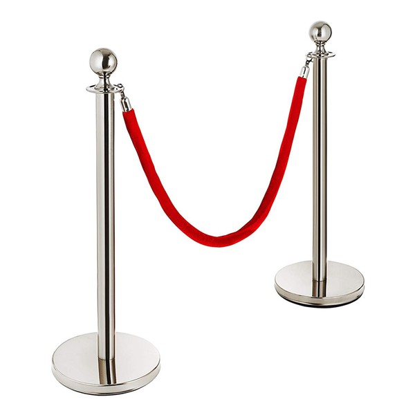 Red Barrier rope with Chrome ends