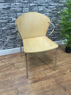 Ply Metal Frame Arm Chairs