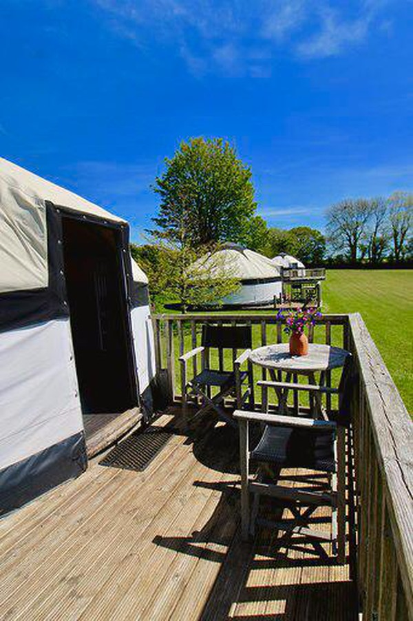 Cream fireproof canvas Yurt for sale