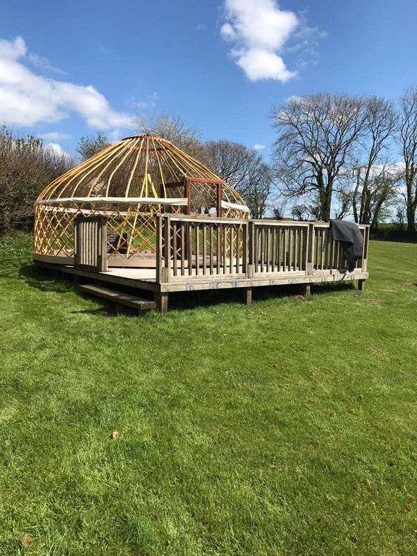 Sweet chestnut yurt frame