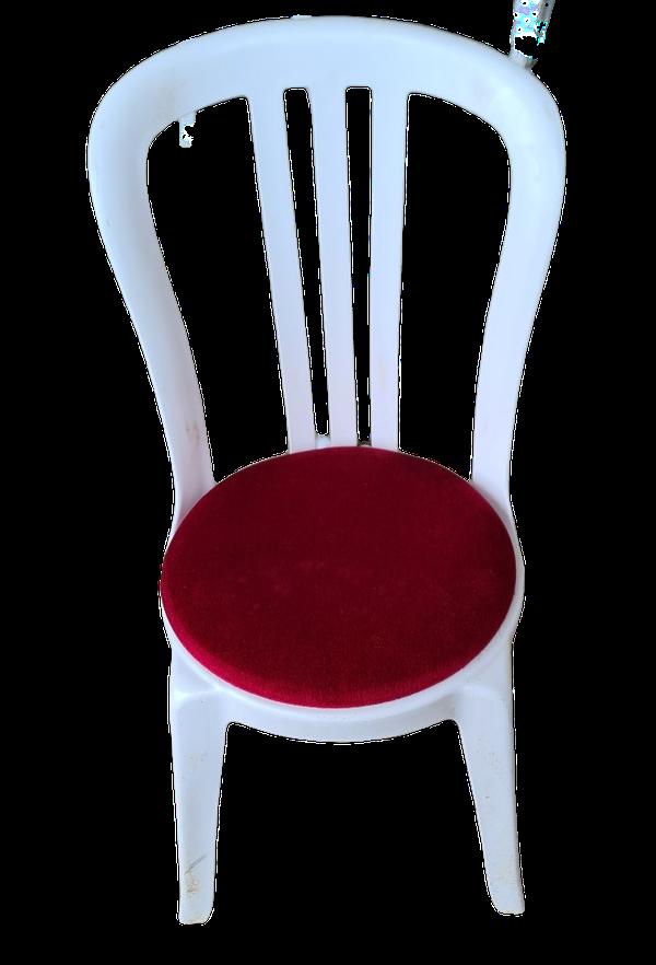 Burgundy bistro seat pads