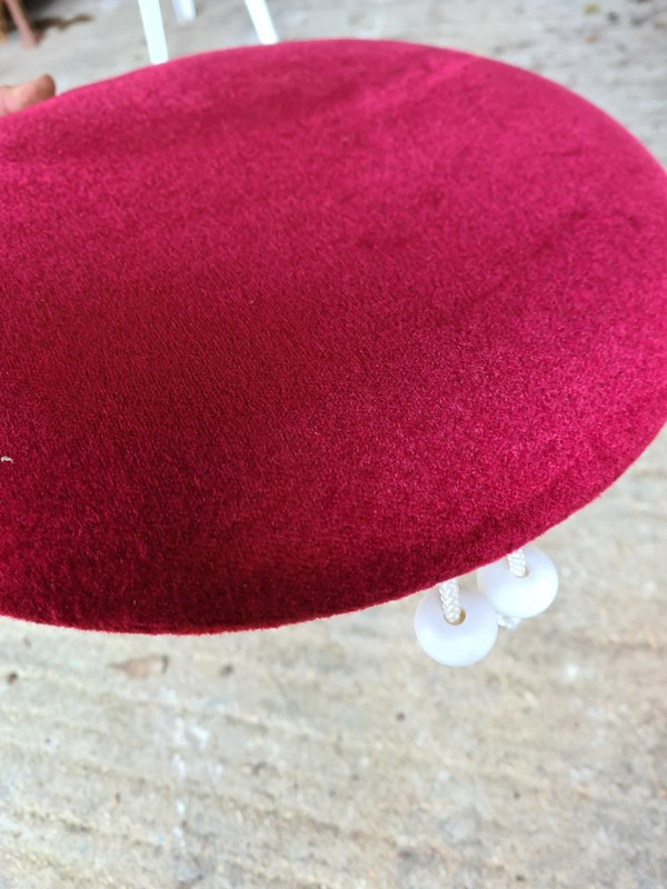 Burgundy seat pad for bistro chairs