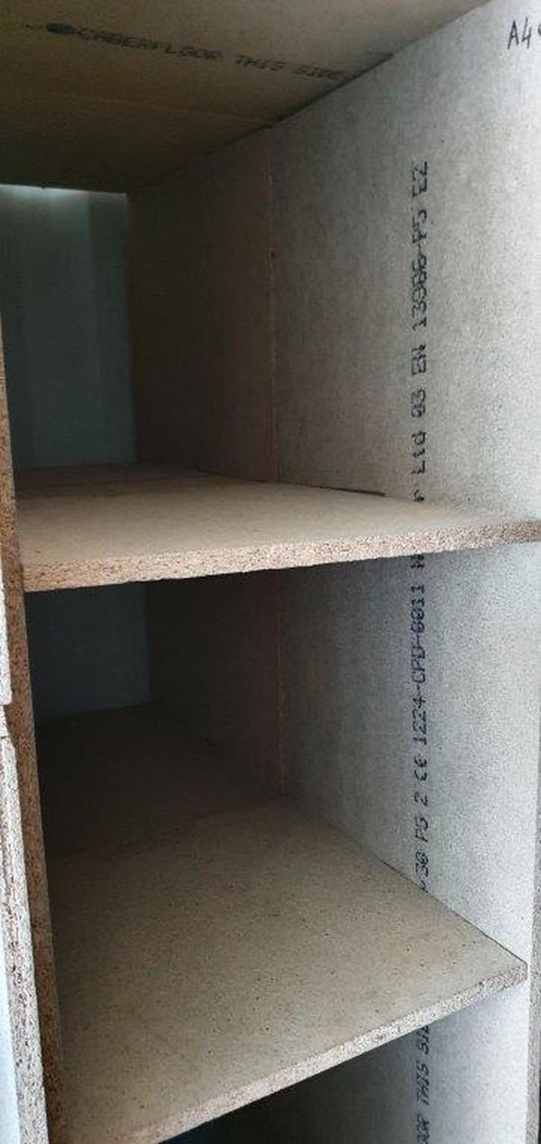 Pigeon hole storage shelves