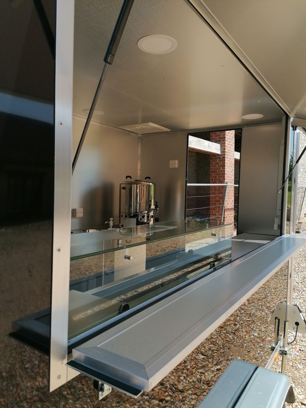 Catering trailer with LPG hot water boiler