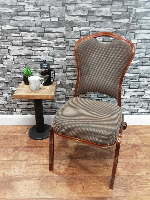 Grey Wooden Conference Chair