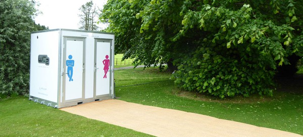 Glamping Ladies and Gents Toilets