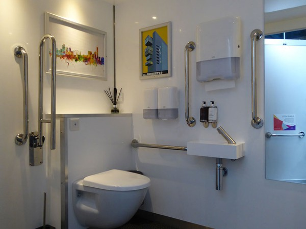 Luxury Accessible Disabled Toilet Pod Interior