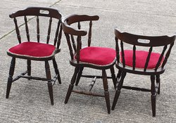 Secondhand Dark Oak Captains Chairs For Sale