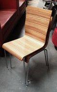Light Zebrano Stacking Chairs