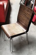 Dark Zebrano Cafe Chairs for sale