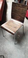Used Dark Zebrano Chairs