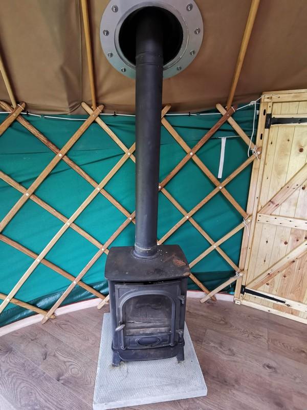 14ft Yurt Ger Refurbished with Wooden Base