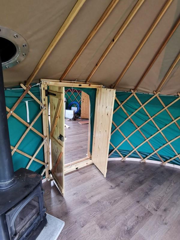 14ft Yurt Ger Refurbished with Wooden Base For Sale