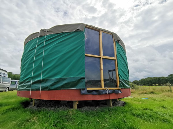 14ft Yurt Refurbished with Wooden Base For Sale