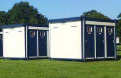 2x Toilet cabins (4 toilets each)