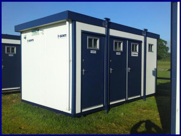 4 bay Gents jack leg toilet cabin for sale