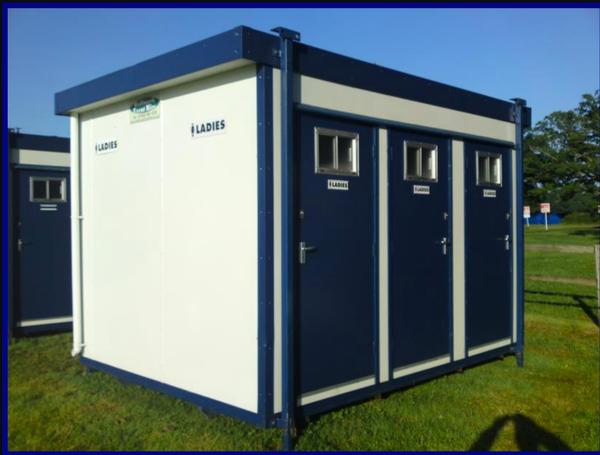 Jack let 4 bay toilet cabin for sale