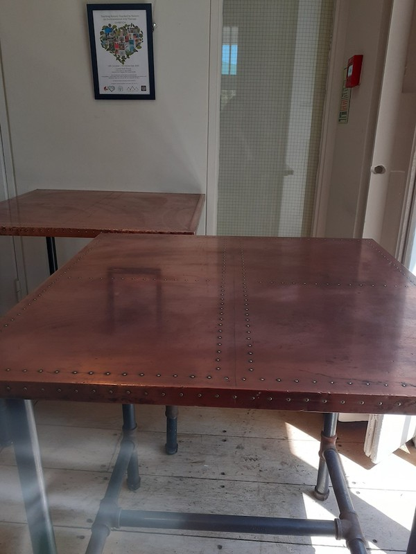 Industrial Copper and Zinc Tables  for sale