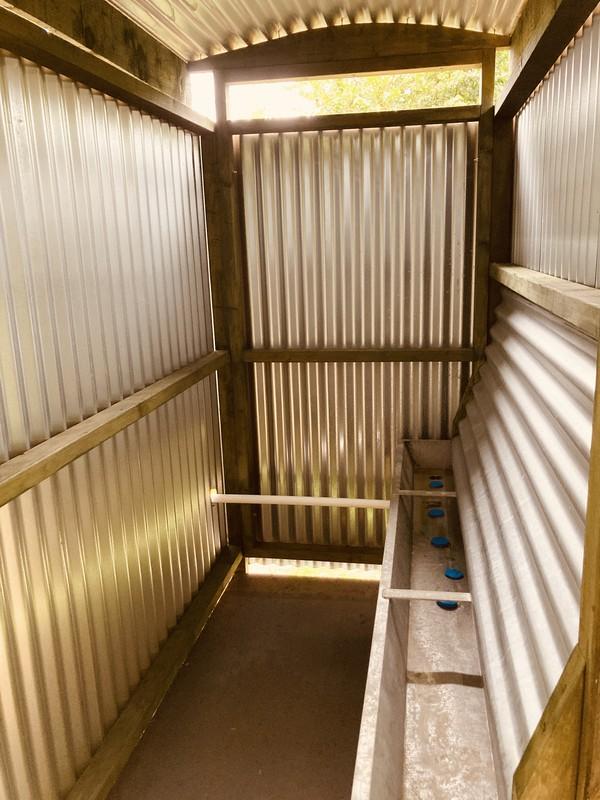 Campsite / glampsite corrugated Urinal Hut