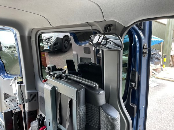 Folding seats and mirror