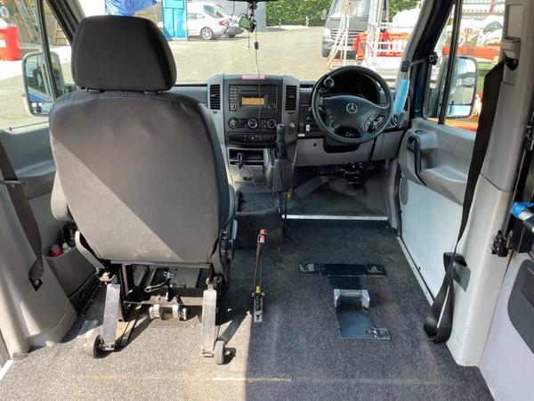 Wheel chair adapted van